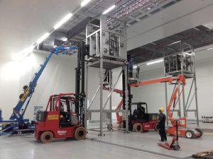 Opbouw machinelijn Aalsmeer
